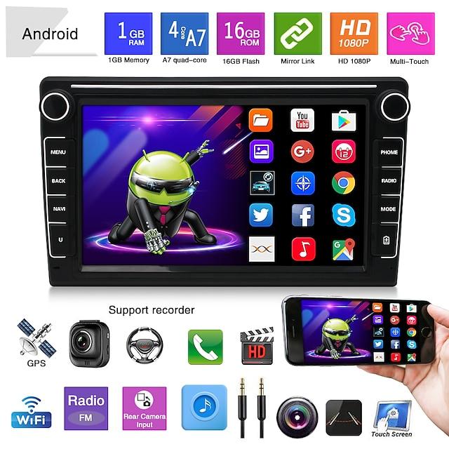 K808 8 pollice 2 Din Android 5.0 Navigatore GPS per auto Schermo touch / Trasmettitore FM / Quad Core per Universali Altro Supporto MP4 JPEG