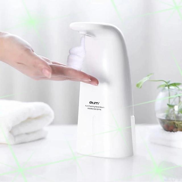 Dispensador de jabón de espuma automático de 250 ml dispensador de jabón montado en la pared dispensador de jabón automático sin contacto abs manos libres