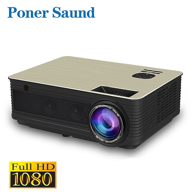 Poner Saund M5 Wifi Projector LED Projector Full HD 1080P 3D Android 6.0 Projetor 4500 Lumens Projektor HDMI USB WiFi Proyector Bluetooth