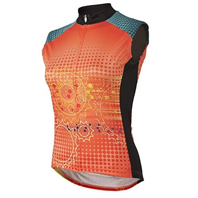 matrix women's sleeveless cycling jersey xs - women's orange