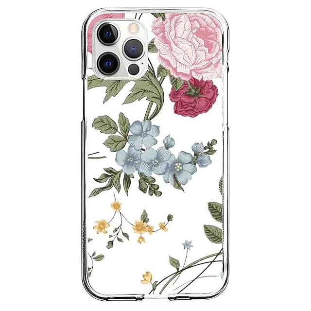 Kwiat telefon Walizka Dla Apple iPhone 12 iPhone 11 iPhone 12 Pro Max Unikalny design Ochronny pokrowiec Wzór Osłona tylna TPU