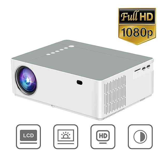Factory Outlet SN01 Mini Projector LED Projector 9500 lm Android6.0 WIFI Projector