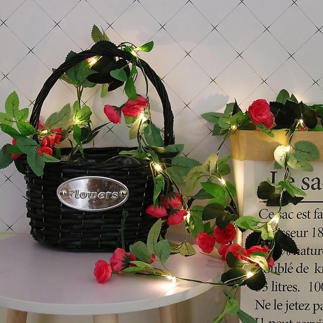 2,2m Guirlandes Lumineuses 20 LED 1 jeu Blanc Chaud Noël Nouvel An Soirée Décorative Vacances Alimenté par Port USB Piles AA alimentées