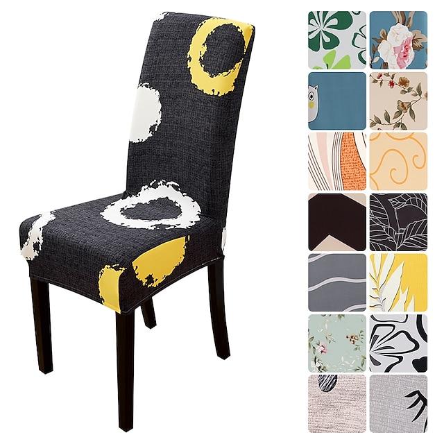 Fodera per sedia da pranzo Fodera per sedile elasticizzata Fodera morbida con motivo floreale floreale resistente protezione per mobili lavabile per feste in sala da pranzo