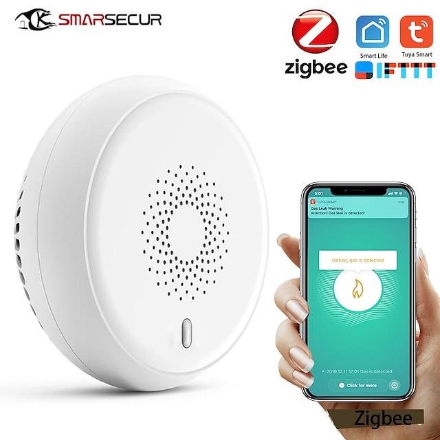 Tuya zigbee détecteur de fumée alarme incendie capteur de fumée système d'alarme incendie très sensible