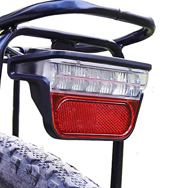 electric bike taillight, electric bicycle rear carrier safety led tail light, ebike rear lights 48v 36v 60v,easy to install for men women kids (1 pc)
