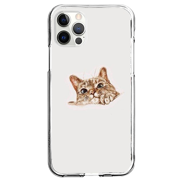 Creative Cat Case For Apple iPhone 12 iPhone 11 iPhone 12 Pro Max Unique Design Protective Case Pattern Back Cover TPU