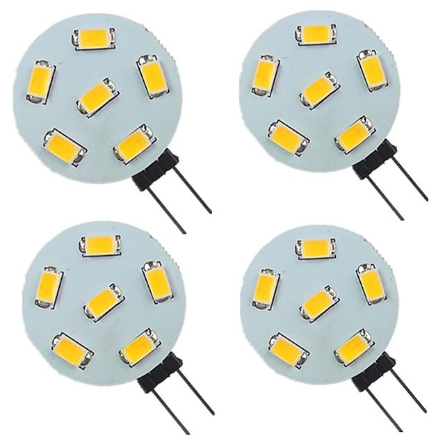 4pcs 2 W LED Bi-pin Lights 200 lm G4 6 LED Beads SMD 5730 Warm White Natural White White 9-30 V