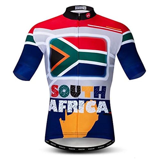 biciklistički dres muški biciklistički dresovi brdska cesta biciklistički gornji dio mtb košulje majice kratkih rukava ljeto sivo crvena veličina m