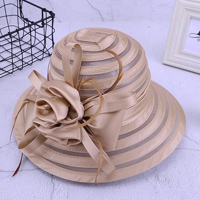Per donna Cappello da festa Feste Matrimonio Strada Floreale Tinta unica Nero Bianco Cappello / Festa / Rosso / Autunno / Inverno / Primavera
