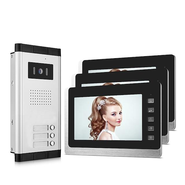 XINSILU XSL-V70L-B ケーブル 7 インチ ハンズフリー 800*480 ピクセル 1〜3ビデオドアホン