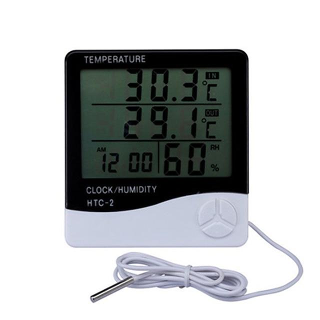 LCD elektronische digitale Temperatur Feuchtigkeitsmesser Thermometer Hygrometer Indoor Outdoor Wetterstation Uhr