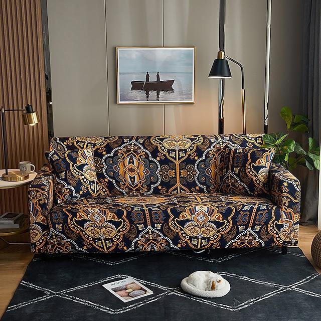 şık sadelik baskı kanepe örtüsü streç kanepe slipcover süper yumuşak kumaş retro sıcak satış kanepe örtüsü