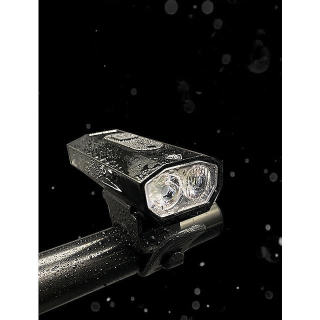 LED Dobbel LED Sykkellykter Vanntett Frontlys til sykkel sikkerhet lys LED Sykkel Sykling Vanntett Superlyst Bærbar USB-ladeutgang Oppladbart litiumbatteri 1200 lm Innebygd Li-batteridrevet Naturlig