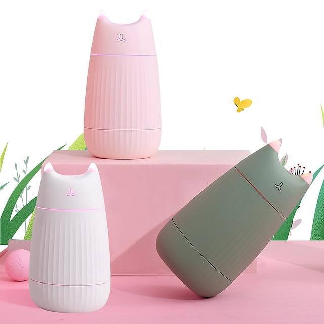 usb-ilmankostutin söpö kissa pöytä diffuusori 200ml auton ilmanraikastinpuhdistin mini kannettava diffuusori led-valoilla kotiin