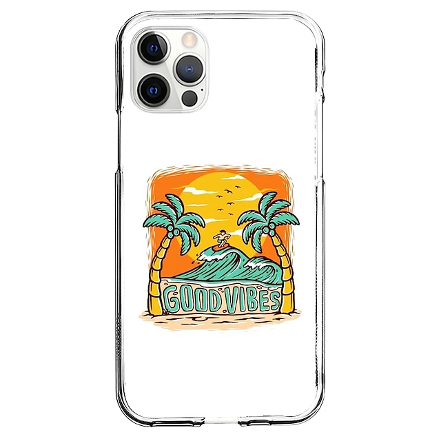 Coastal Case For Apple iPhone 12 11 SE2020 Unique Design Protective Case Shockproof Cover TPU Clear Case for iPhone 12 Pro Max XR XS Max iPhone 8 7
