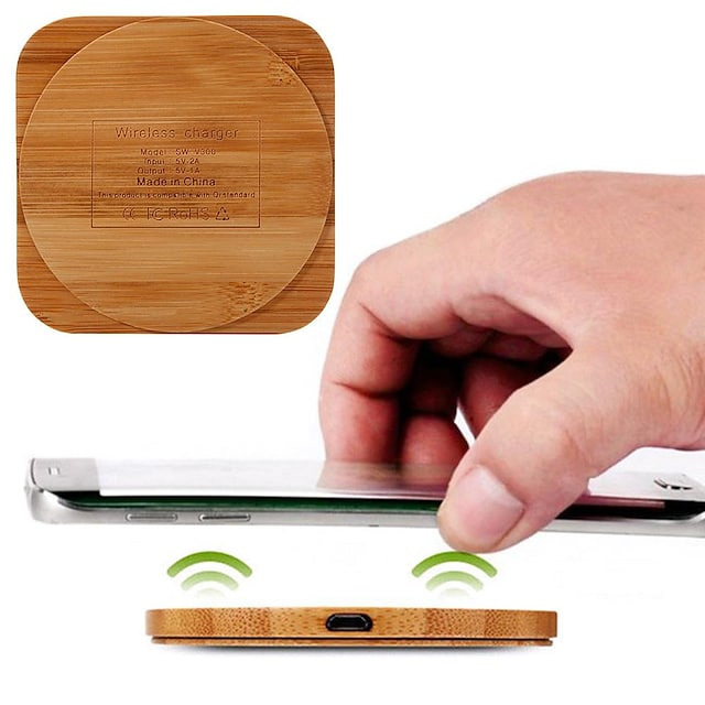 Caricabatterie portatile Caricatore senza fili Per Apple iPhone 12 11 pro SE X XS XR 8 Samsung Glaxy S21 Ultra S20 Plus S10 Note20 10 Airpods 1/2 / Pro Universali Normale