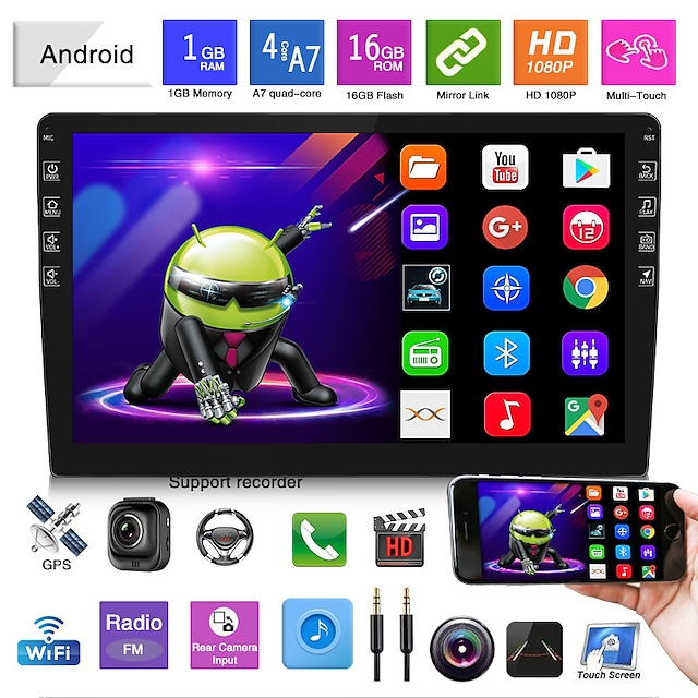 9 inch In-Dash Car DVD Player / Car MP5 Player / Car MP3 Player Quad Core for universal Support MP4 JPG