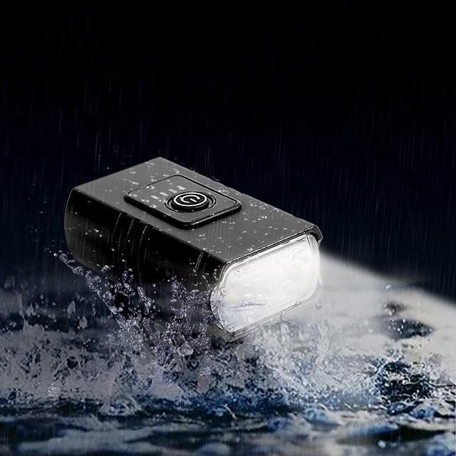 Phare de vélo LED rechargeable par USB à 6 modes, éclairage avant de vélo IP67 lumineux de 1000 lumens, facile à installer avec des bretelles réglables lampe de poche étanche pour la sécurité à vélo