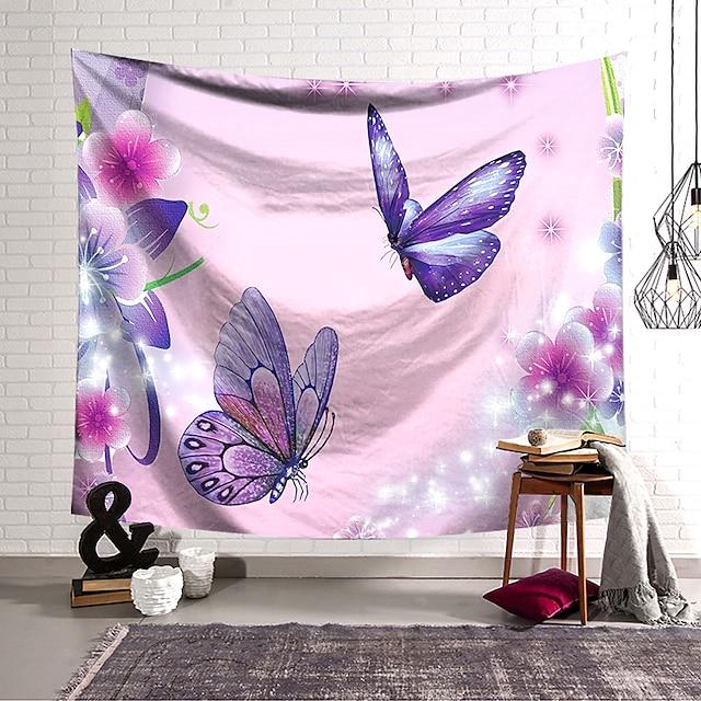 Wandtapijten art decor deken gordijn opknoping thuis slaapkamer woonkamer decoratie polyester vlinder