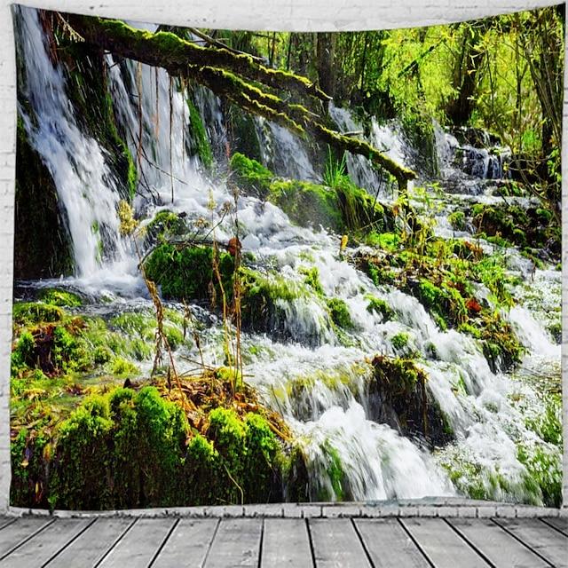 cascadă maiestuoasă peisaj perete tapiserie artă decor pătură perdea agățat acasă dormitor cameră de zi
