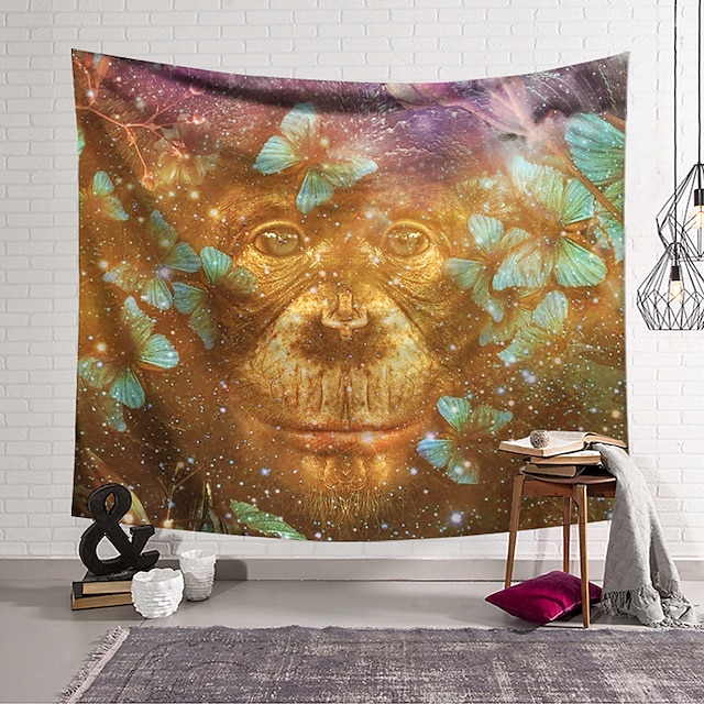 Animals Wall Tapestry Art Decor Blanket Curtain Hanging Home Bedroom Living Room Decoration and Animal and Fantasy