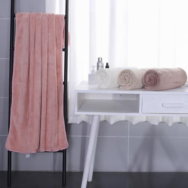 Qualité supérieure Serviette de bain, Mode 100% Molleton Salle de  Bain 1 pcs