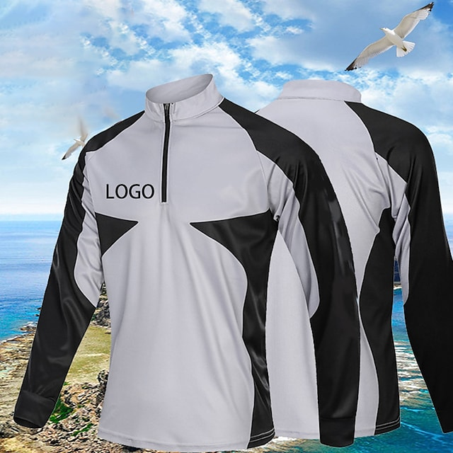 Women's Men's Fishing Jacket Skin Coat Outdoor UPF50+ Quick Dry Lightweight Breathable Jacket Spring Summer Fishing Camping & Hiking Cycling / Bike White Black Gray / Long Sleeve / Stretchy