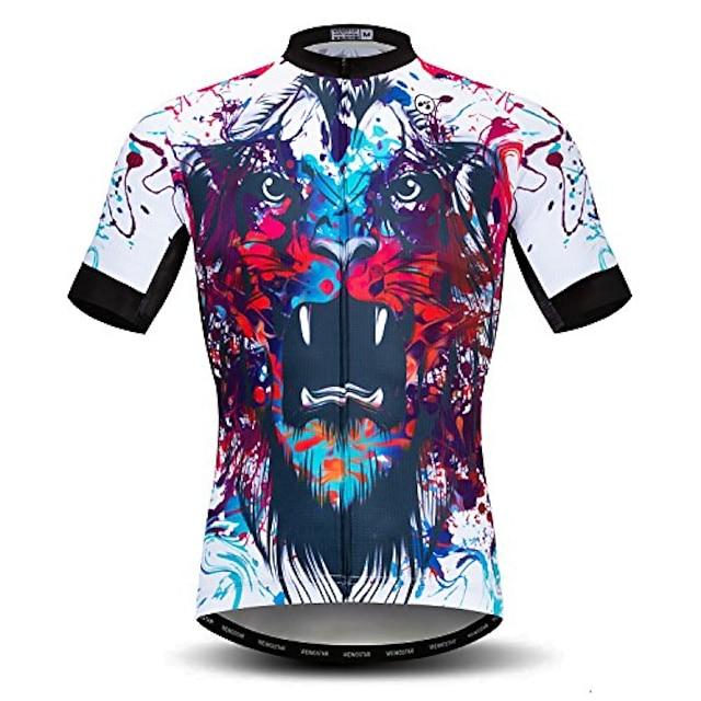 pánský cyklistický dres s krátkým rukávem, venkovní pro cyklistické jezdecké oblečení, dresy na horská kola, prodyšné topy s lebkou