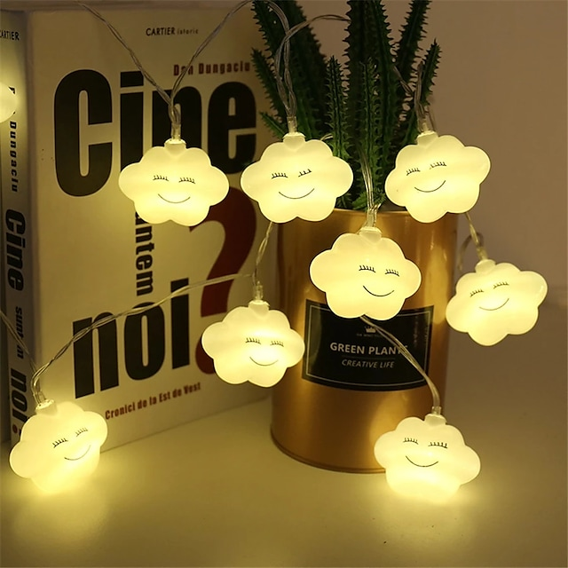 1,5 m 3M Guirlandes Lumineuses 10/20 LED 1 jeu Blanc Chaud Plusieurs Couleurs Noël Nouvel An Mignon Soirée Décorative Piles AA alimentées