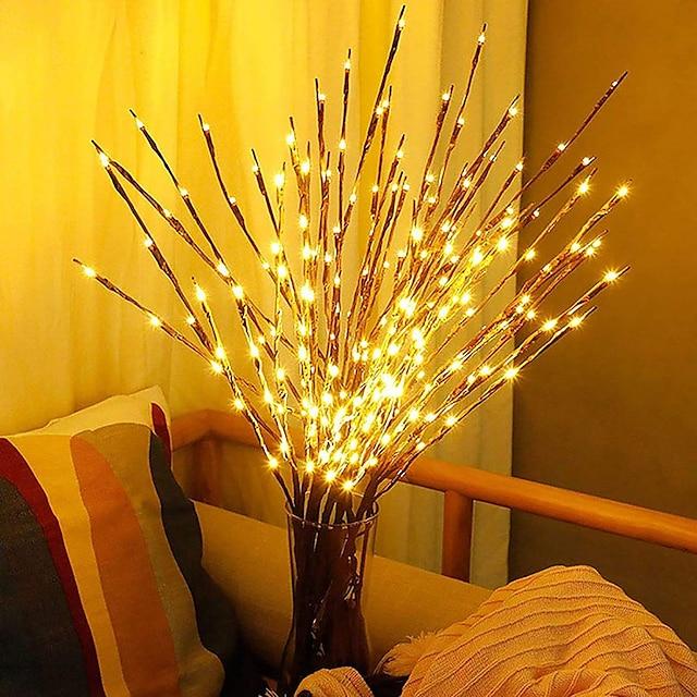 77 cm Guirlandes Lumineuses 20 LED Blanc Chaud Soirée Décorative Vacances 3 V