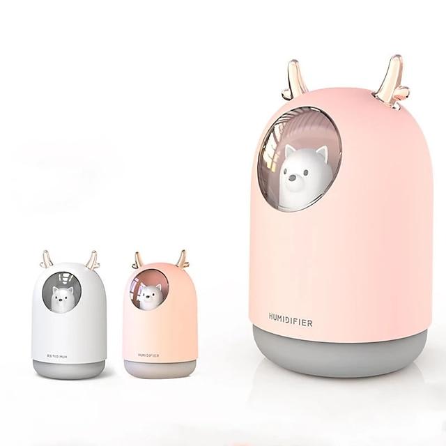 300 ml mini björn luftfuktare usb aromaterapi arom eterisk oljediffusor för hemmakontor bil cool dimma maker led nattlampa