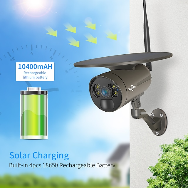 Hiseeu Bullet Wired & Wireless Waterproof Motion Detection Remote Access Outdoor Support 64 GB / CMOS / 3 / 60 / Dynamic IP address / iPhone OS