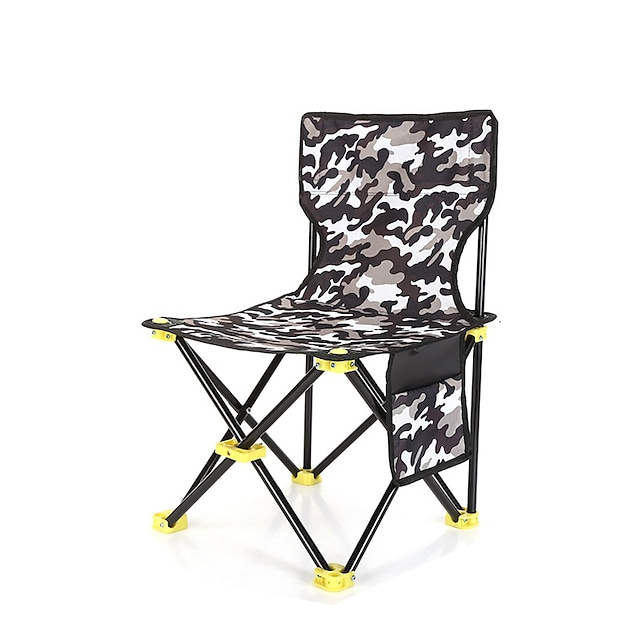 Camping Chair with Side Pocket Portable Ultra Light (UL) Multifunctional Foldable Oxford for 1 person Fishing Beach Camping Autumn / Fall Winter White Black Red Army Green / Breathable / Comfortable