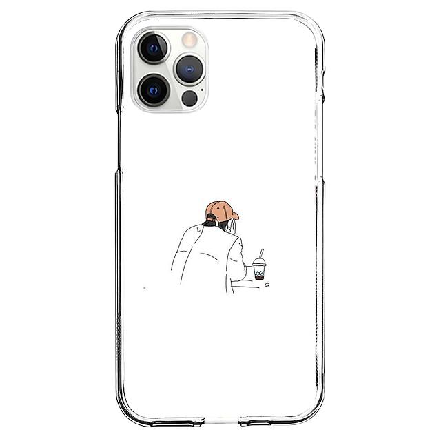 Yaratıcı Karakterler telefon Durum İçin Apple iPhone 12 iPhone 11 iPhone 12 Pro Max Eşsiz tasarım Koruyucu Kılıf Temalı Arka Kapak TPU