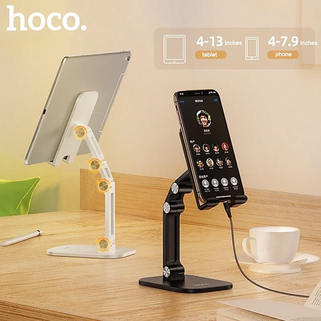 HOCO Mobilstativ Skrivbord iPad Mobiltelefon Surfplatta Justerbart Stativ Telefonbordstativ Justerbar Silikon ABS Mobiltelefonstillbehör iPhone 12 11 Pro Xs Xs Max Xr X 8 Samsung Glaxy S21 S20 Note20