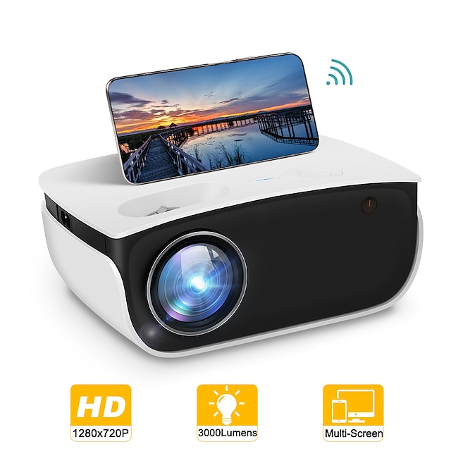 rigal rd850 LED projektor wifi projektor korekcija trapezoidnosti 720p (1280x720) 3000 lm kompatibilan sa hdmi USB