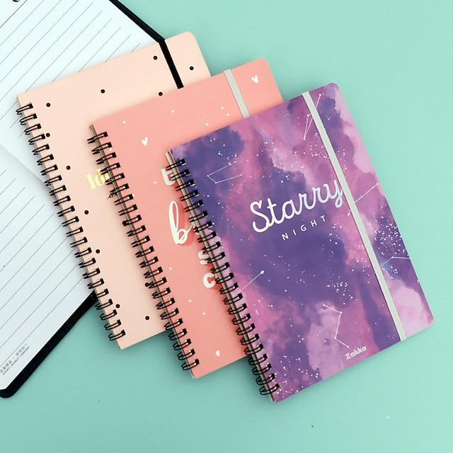 pequeno fresco bobina caderno simples ins vento rollover caderno espiral criativo diário do aluno personalização do bloco de notas