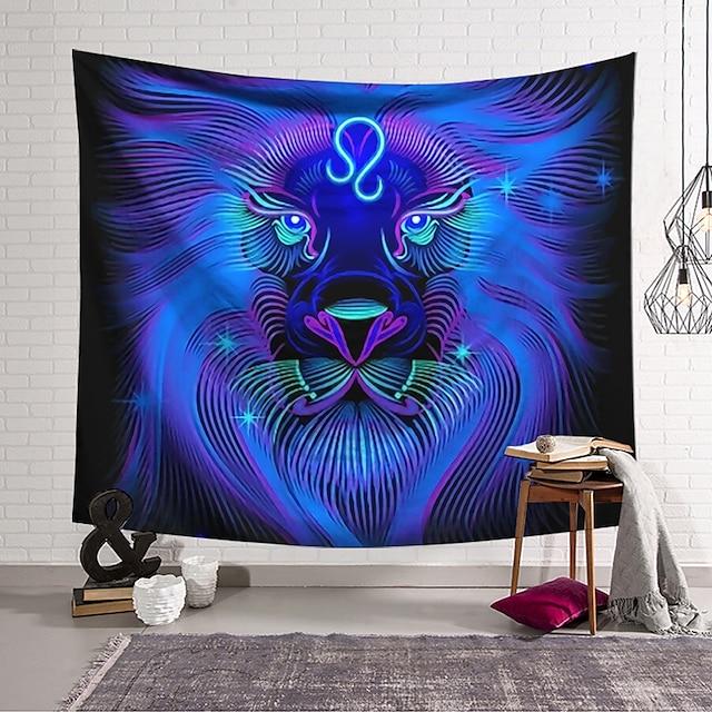 seinän kuvakudos taidekoriste viltti verho riippuva kodin makuuhuone olohuone sisustus polyesteri leijona