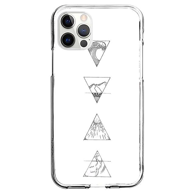 幾何学模様 場合 にとって 林檎 iPhone 12 iPhone 11 iPhone 12 Pro Max ユニークなデザイン 保護ケース パターン バックカバー TPU