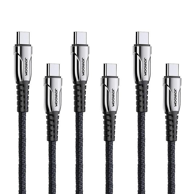 Joyroom C Tipi - Yıldırım Kablo Örgülü Hızlı Şarj 3 A 1.8M (6ft) Naylon Uyumluluk Samsung Xiaomi Huawei Cep Telefonu Aksesuarları