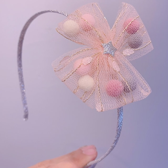 1pcs Kids Girls' Cut Out / Sweet Daily Wear Color Block Bow Polyester Hair Accessories Blue / Blushing Pink / Beige One-Size