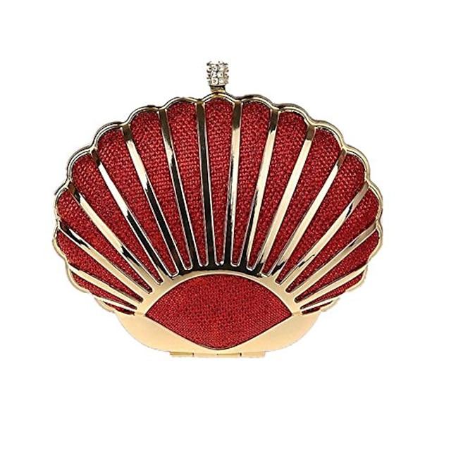 mini seashell purses for women clutch handbags for girls,red