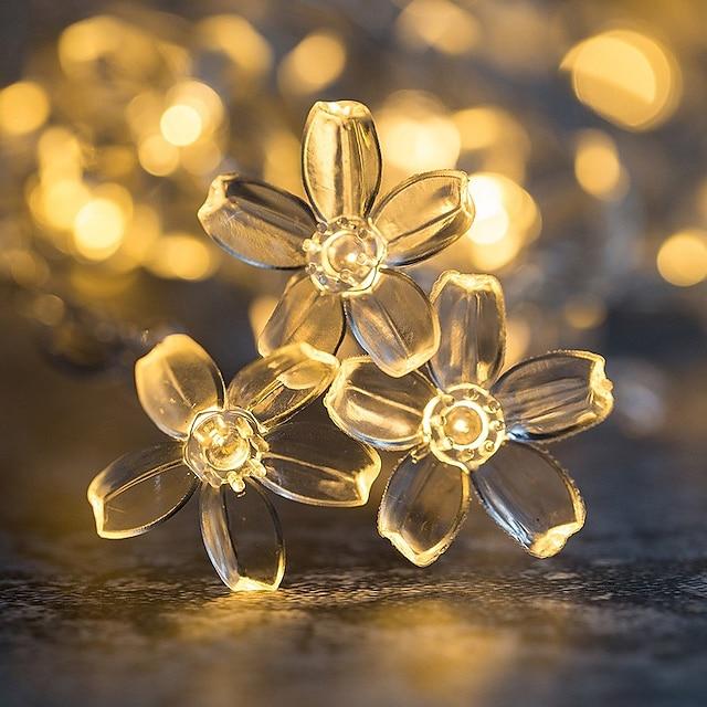3M 6m Guirlandes Lumineuses 20/40 LED 1 jeu Blanc Chaud Plusieurs Couleurs Noël Nouvel An Soirée Décorative Vacances Piles AA alimentées
