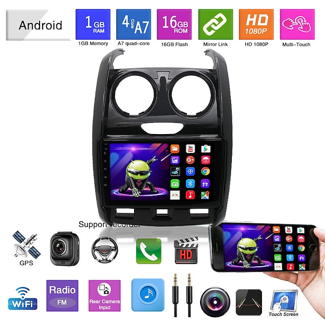 Car DVD 15-18 Renault Duster Android Navigation Android Mp5 Player GPS Car Integrated Machine