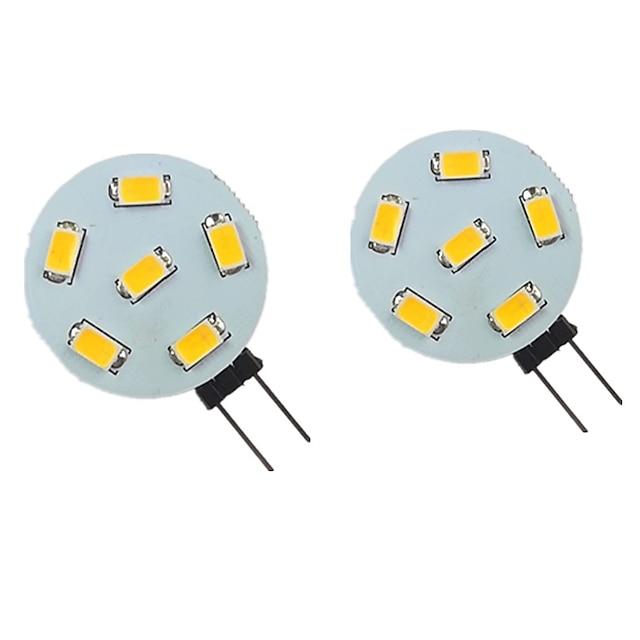 2pcs 2 W LED Bi-pin Lights 200 lm G4 6 LED Beads SMD 5730 Warm White Natural White White 9-30 V