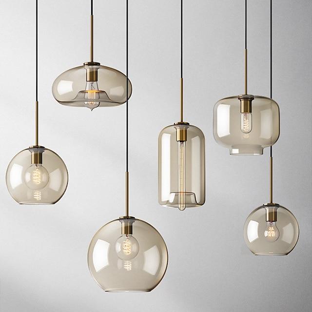 20 cm Single Design Pendant Light Glass Glass Electroplated Vintage Nordic Style 110-120V 220-240V