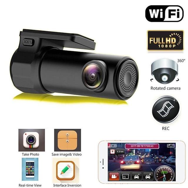 S600 HD 1280 x 720 / 1080p Noční vidění Auto DVR 170 stupňů Široký úhel No Screen (výstup APP) Dash Cam s Noční vidění / Parkovací mód / Detekce pohybu Ne Záznamník vozu