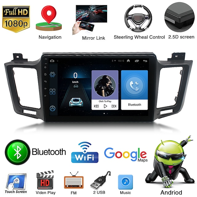 applicable to toyota 13-18rav4 navigator smart android large screen reversing video integrated machine cross-border special supply