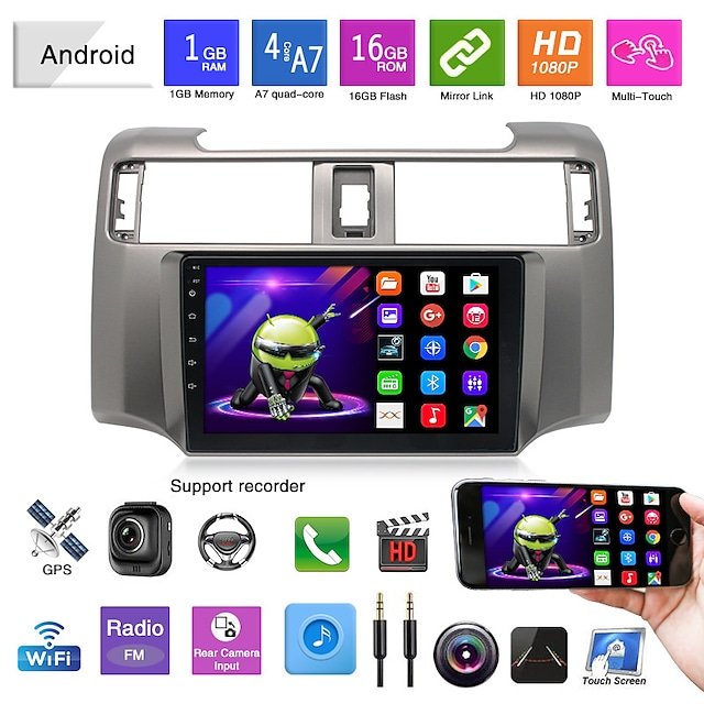 suitable for toyota 4runner android navigation car gps integrated machine car reversing video playback